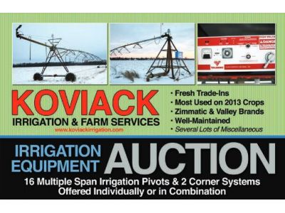Koviack Irrigation Auction, Feb 2 1014